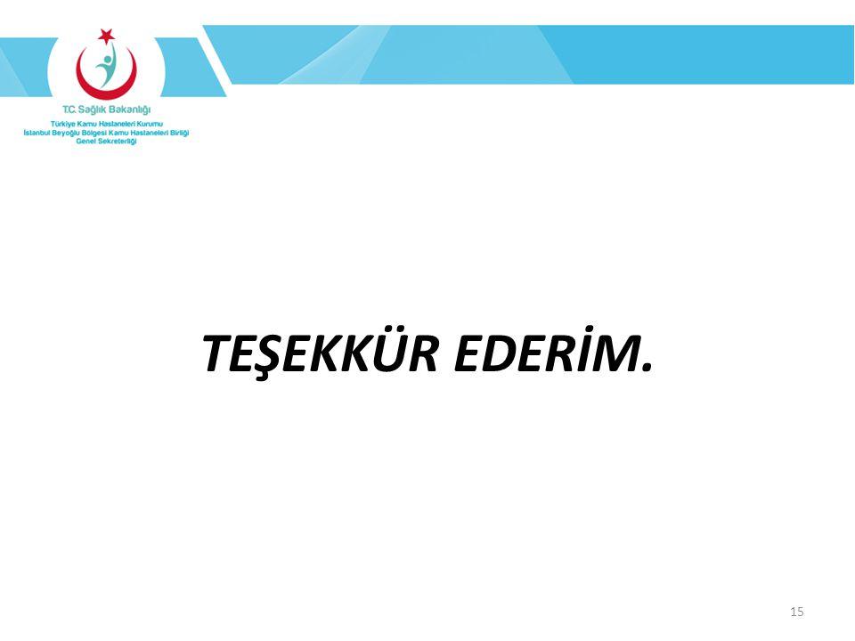 TEŞEKKÜR EDERİM. 15
