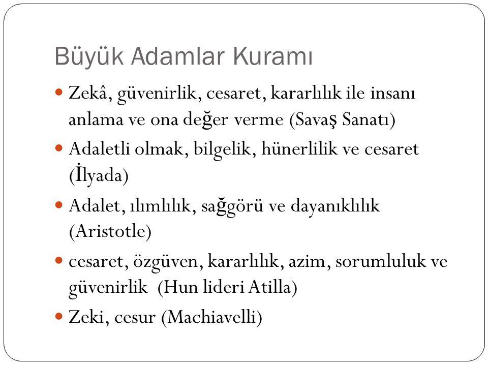 Kaynaklar Paksoy, H.M.(2008). Küreselle ş me, Liderlik ve Liderlik teorileri.