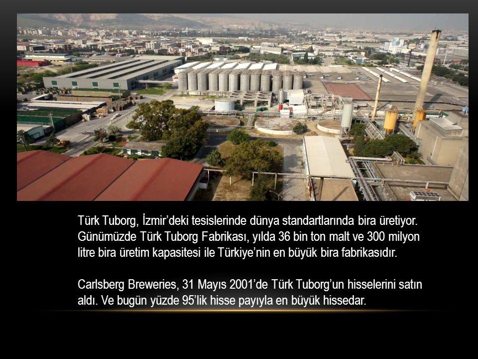 Türk Tuborg, İzmir'deki tesislerinde dünya standartlarında bira üretiyor. Günümüzde Türk Tuborg Fabrikası, yılda 36 bin ton malt ve 300 milyon litre b