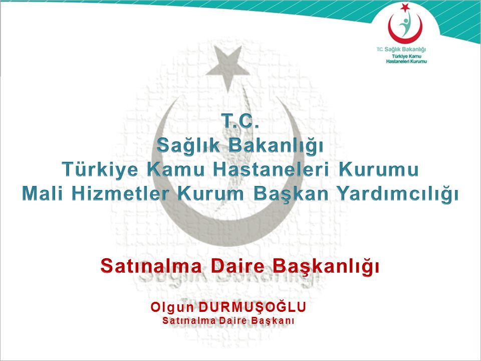 2011-2012 ve 2013 Yıllarında Türkiye Kamu Hastaneleri Kurumu Merkez Satınalma Daire Başkanlığınca; 209.805.930,12 TL ( KDV Hariç) Merkezi Alım Gerçekleştirilmiştir.