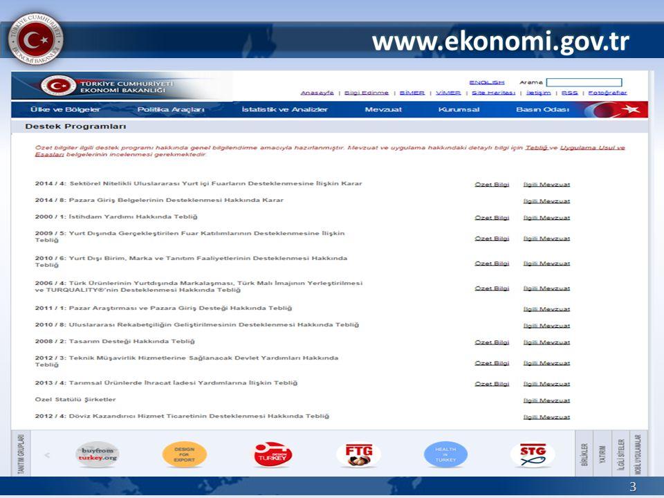 2006 / 4 sayılı Türk Ürünlerinin Yurtdışında Markalaşması, Türk Malı İmajının Yerleştirilmesi ve TURQUALITY®'nin Desteklenmesi 54