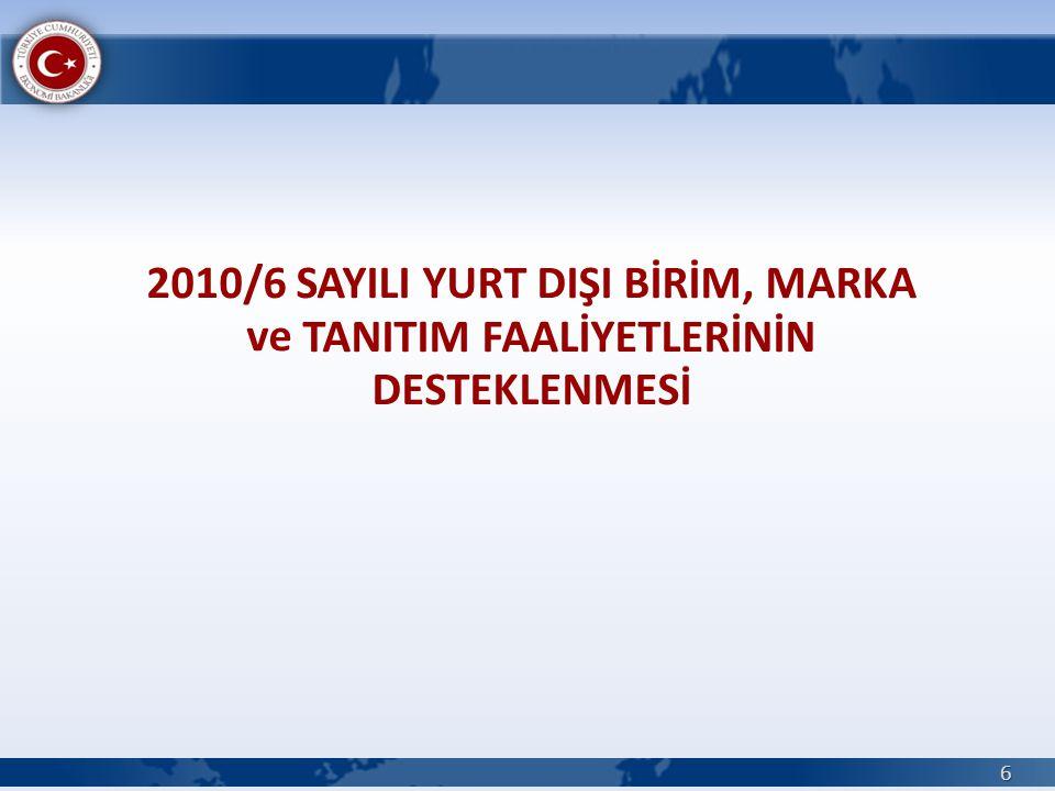 2010/8 SAYILI ULUSLARARASI REKABETÇİLİĞİN GELİŞTİRİLMESİ DESTEĞİ 37