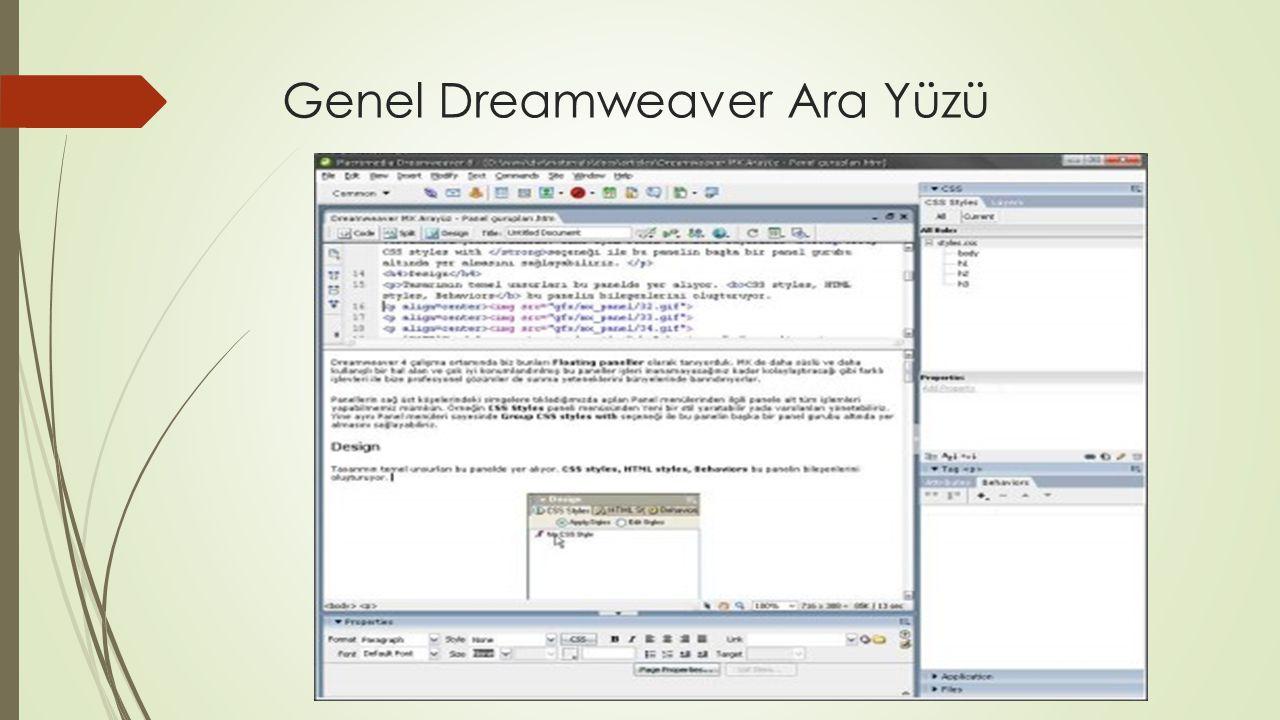 DREAMWEAVER İÇERSİNDE FORM KULLANIMI Form kavramı :  Formlar HTML in ayrılmaz ve vazgeçilmez parçalarından biridir.