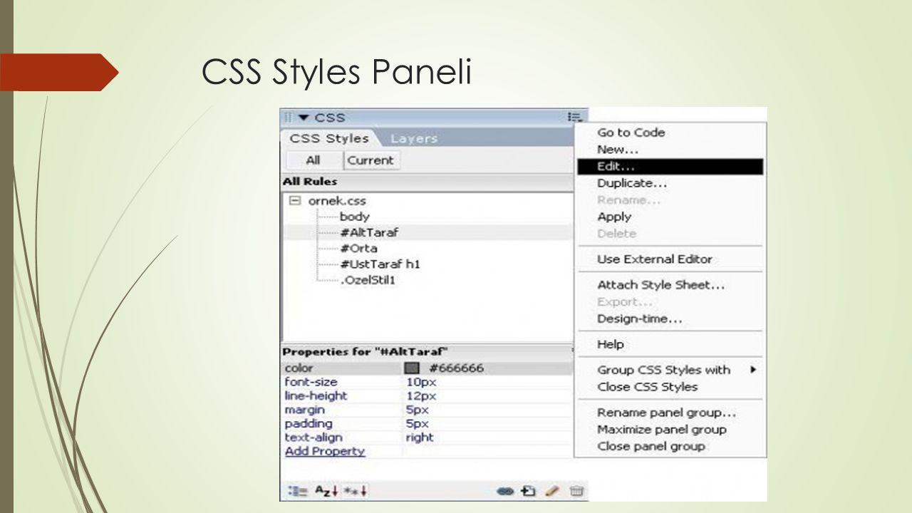Files  Bu panel standart olarak 3 sekmeden daha doğrusu 3 ayrı panelden meydana gelmektedir.