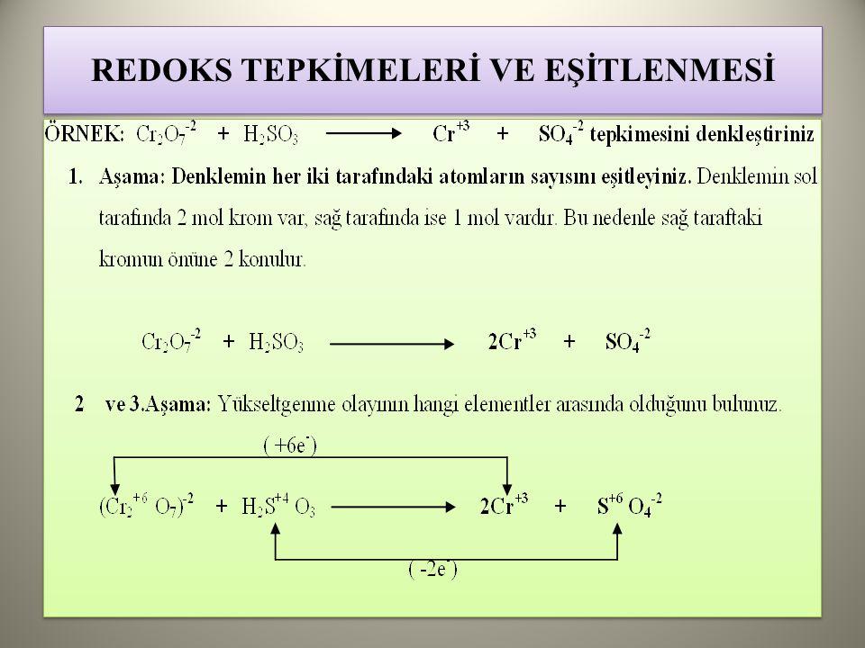 REDOKS TEPKİMELERİ VE EŞİTLENMESİ