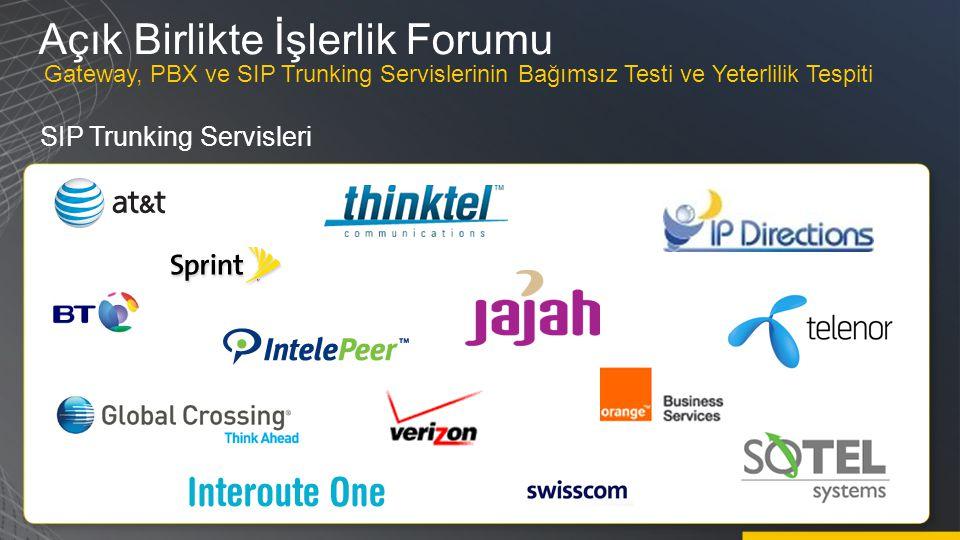 Açık Birlikte İşlerlik Forumu SIP Trunking Servisleri Gateway, PBX ve SIP Trunking Servislerinin Bağımsız Testi ve Yeterlilik Tespiti