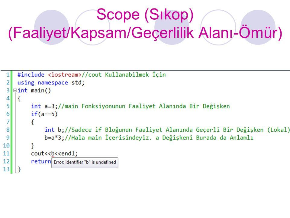 Scope (Sıkop) (Faaliyet/Kapsam/Geçerlilik Alanı-Ömür)