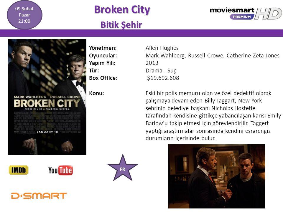 Broken City Broken City Bitik Şehir Bitik Şehir Yönetmen: Allen Hughes Oyuncular: Mark Wahlberg, Russell Crowe, Catherine Zeta-Jones Yapım Yılı: 2013