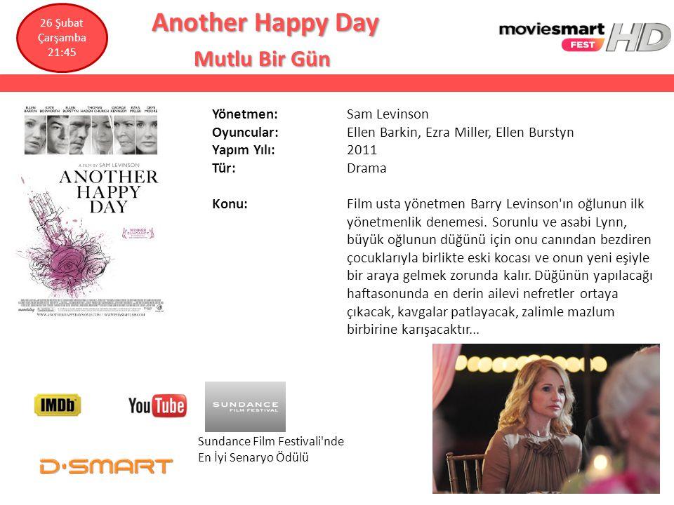 Another Happy Day Another Happy Day Mutlu Bir Gün Mutlu Bir Gün Yönetmen: Sam Levinson Oyuncular: Ellen Barkin, Ezra Miller, Ellen Burstyn Yapım Yılı: