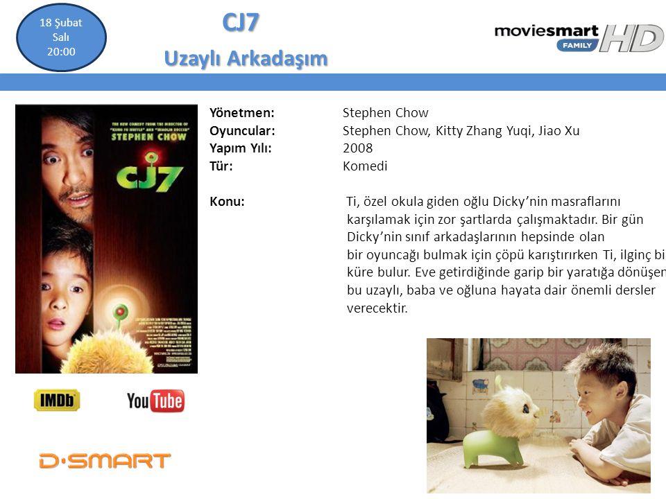 CJ7 CJ7 Uzaylı Arkadaşım Uzaylı Arkadaşım Yönetmen: Stephen Chow Oyuncular: Stephen Chow, Kitty Zhang Yuqi, Jiao Xu Yapım Yılı: 2008 Tür: Komedi Konu:
