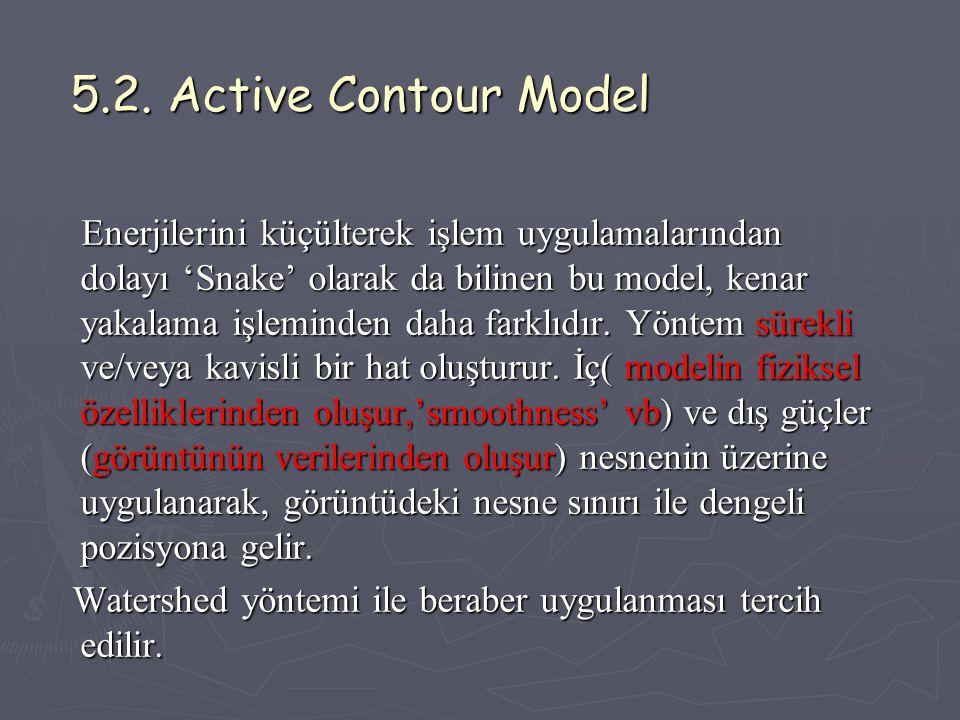 5.2.Active Contour Model 5.2.
