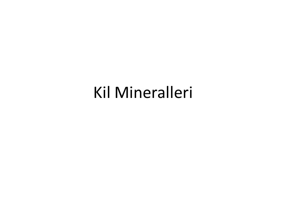 Kil Mineralleri