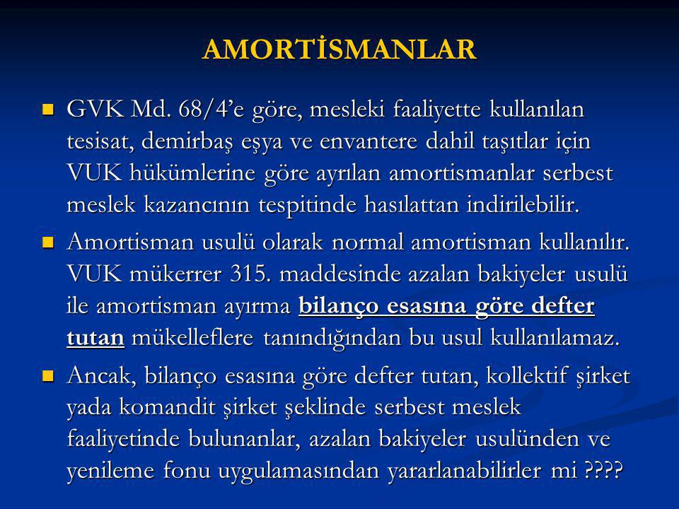 AMORTİSMANLAR GVK Md.