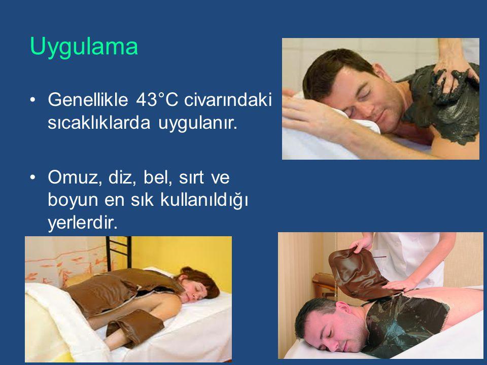 Uygulama Genellikle 43°C civarındaki sıcaklıklarda uygulanır.