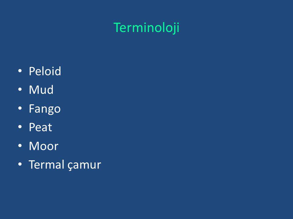 Terminoloji Peloid Mud Fango Peat Moor Termal çamur