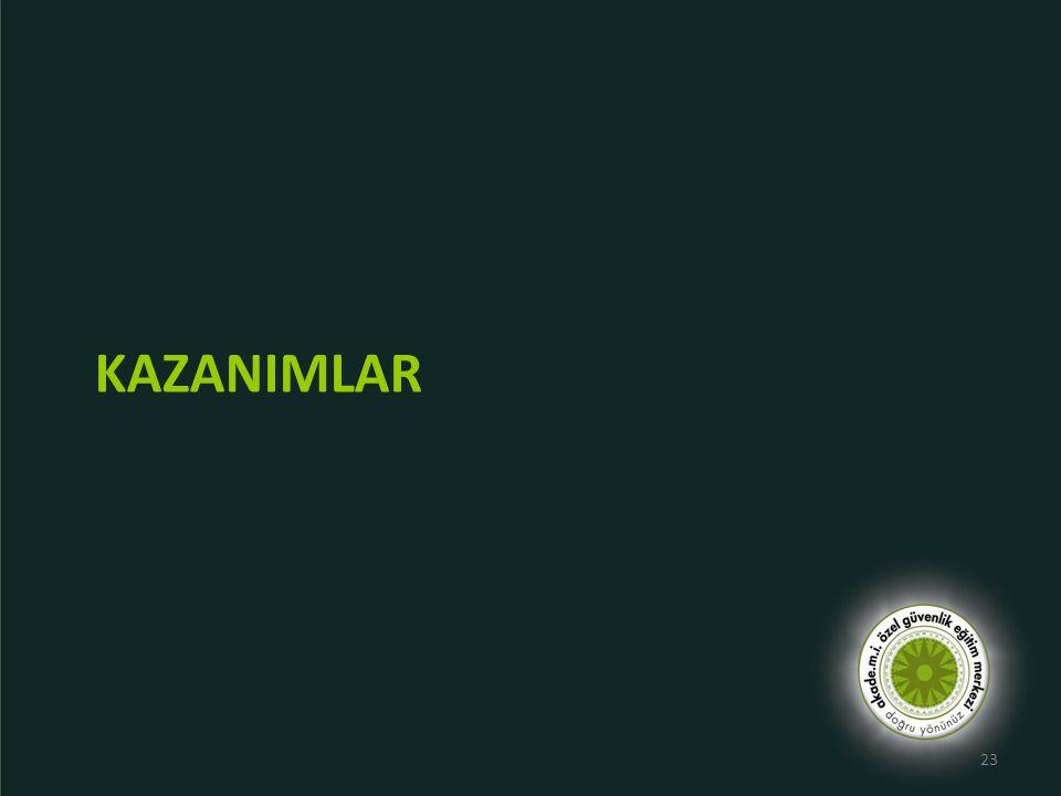 KAZANIMLAR 23