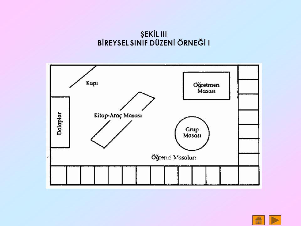 ŞEKİL III BİREYSEL SINIF DÜZENİ ÖRNEĞİ I