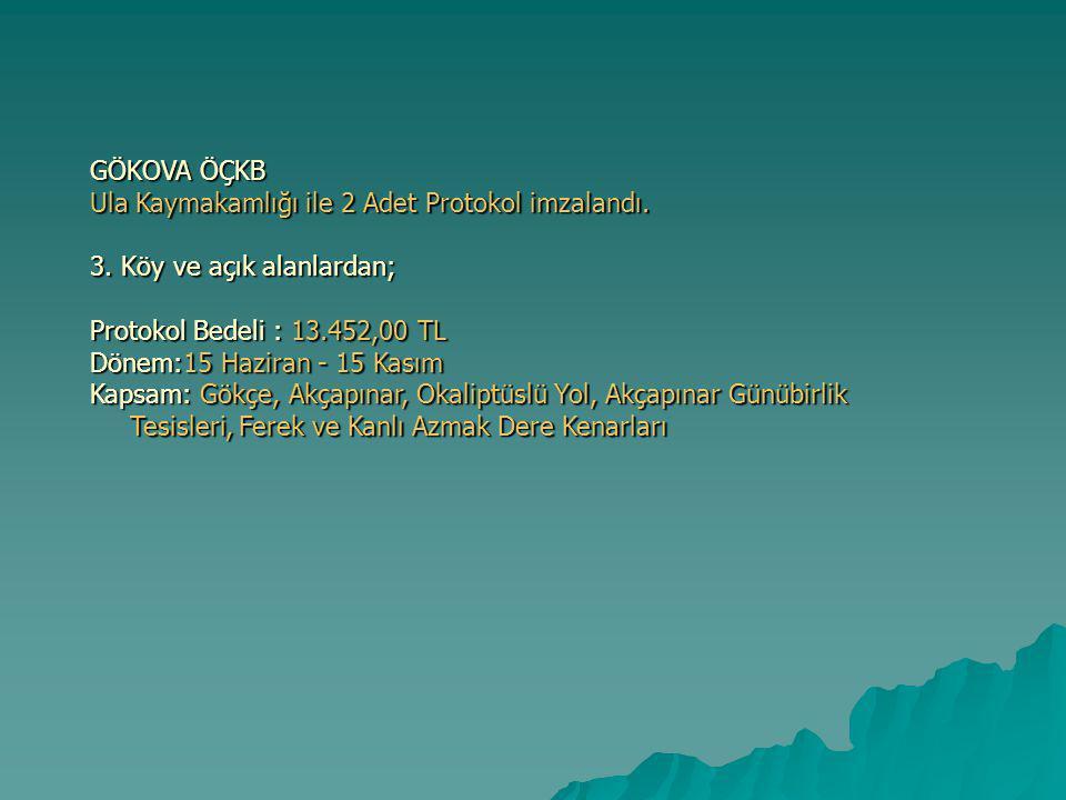 GÖKOVA ÖÇKB Ula Kaymakamlığı ile 2 Adet Protokol imzalandı.
