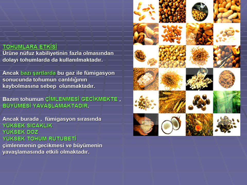 TOHUMLARA ETKİSİ Ürüne nüfuz kabiliyetinin fazla olmasından dolayı tohumlarda da kullanılmaktadır.