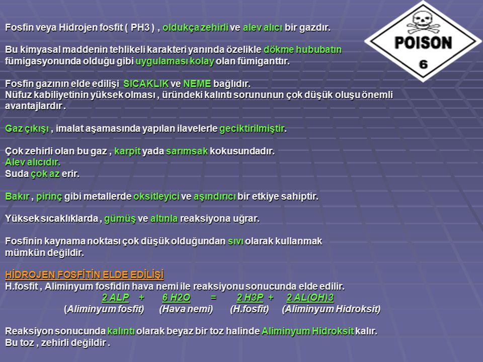 Fosfin veya Hidrojen fosfit ( PH3 ), oldukça zehirli ve alev alıcı bir gazdır.