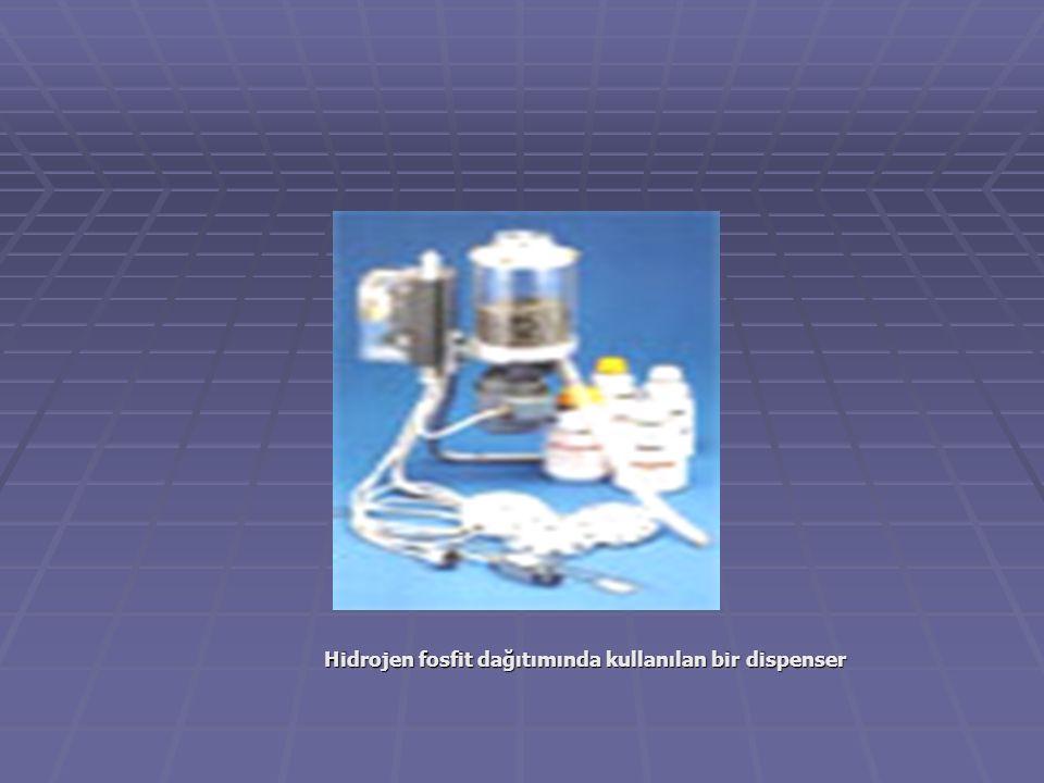 Hidrojen fosfit dağıtımında kullanılan bir dispenser