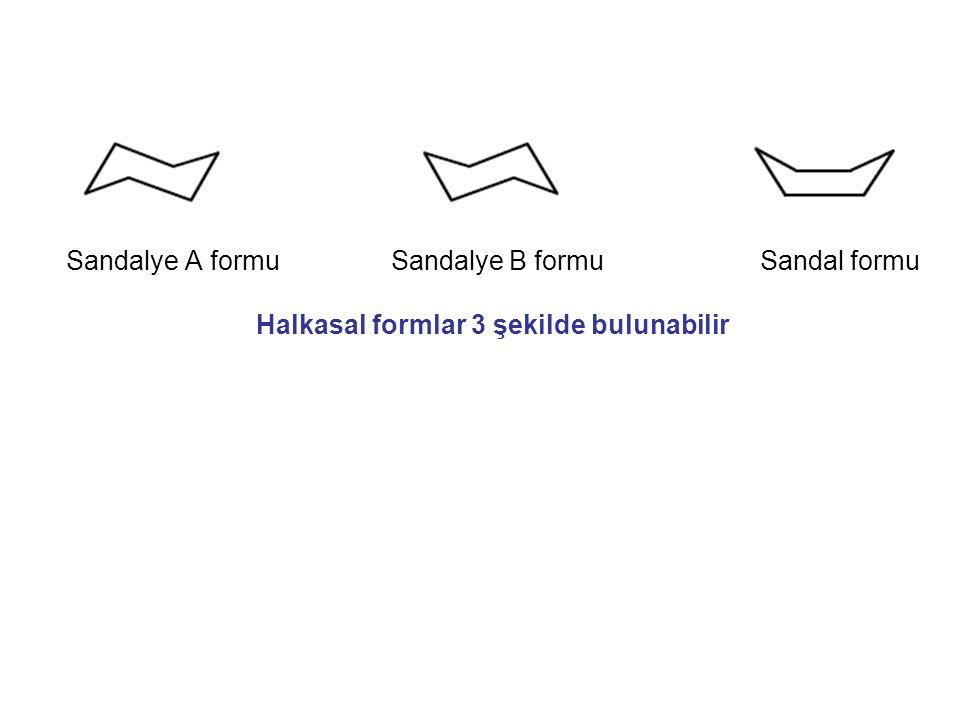 Sandalye A formu Sandalye B formu Sandal formu Halkasal formlar 3 şekilde bulunabilir