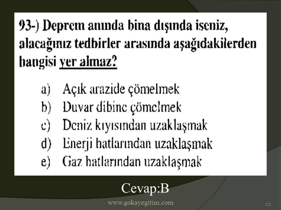 www.gokayegitim.com 122 Cevap:B