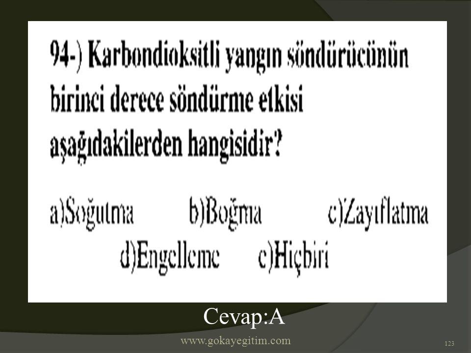 www.gokayegitim.com 123 Cevap:A