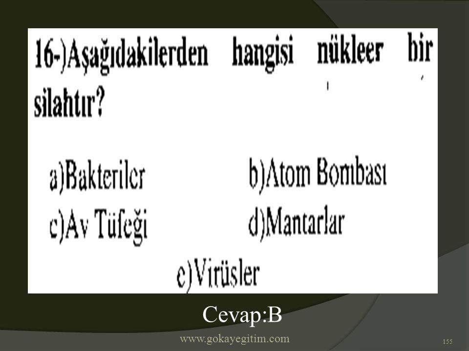 www.gokayegitim.com 155 Cevap:B
