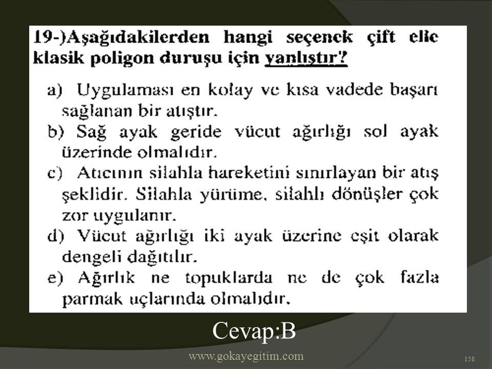 www.gokayegitim.com 158 Cevap:B