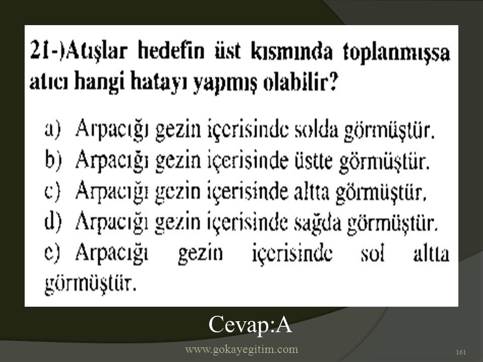 www.gokayegitim.com 161 Cevap:A