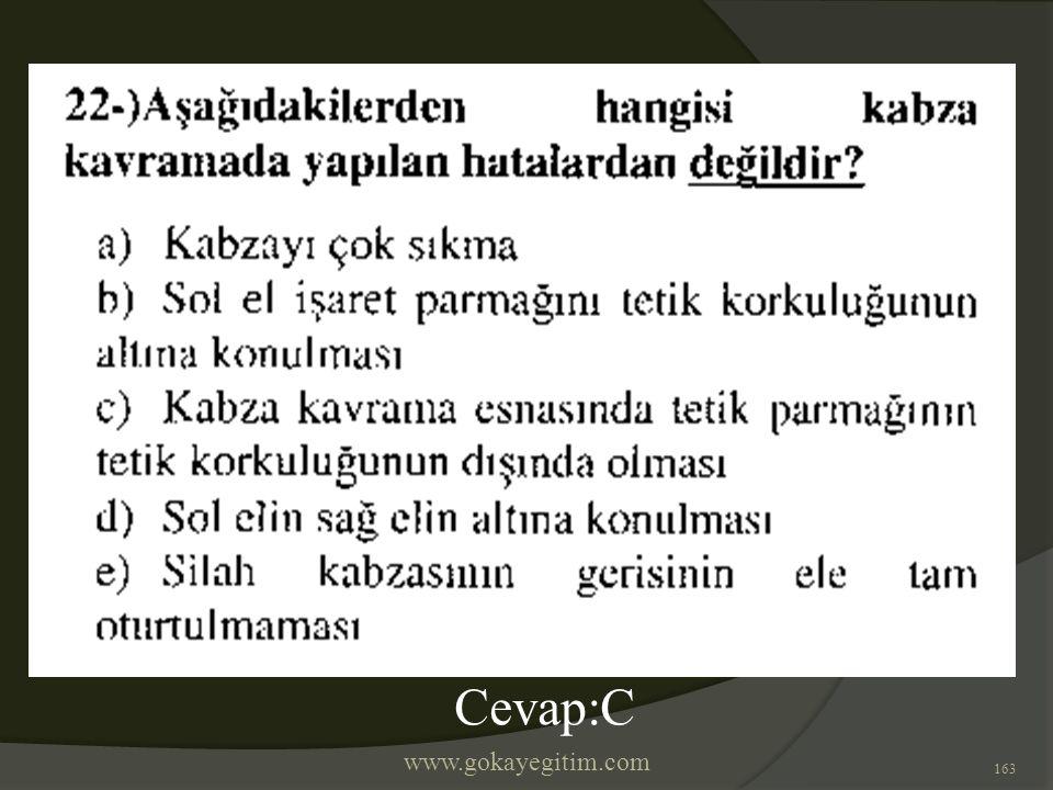 www.gokayegitim.com 163 Cevap:C