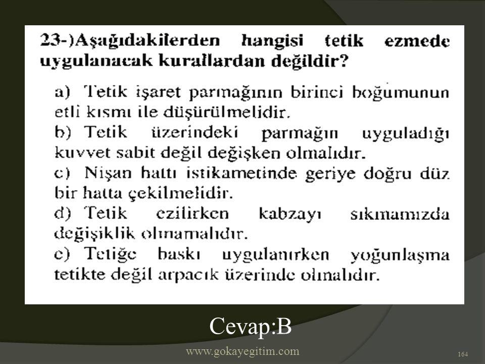 www.gokayegitim.com 164 Cevap:B