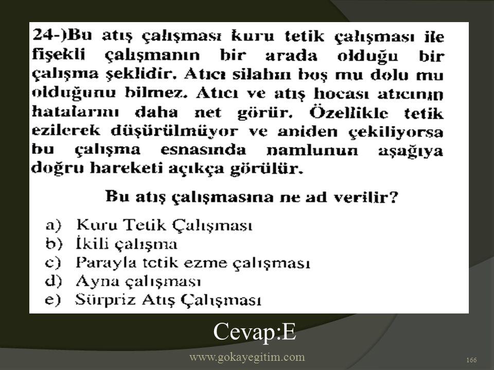 www.gokayegitim.com 166 Cevap:E