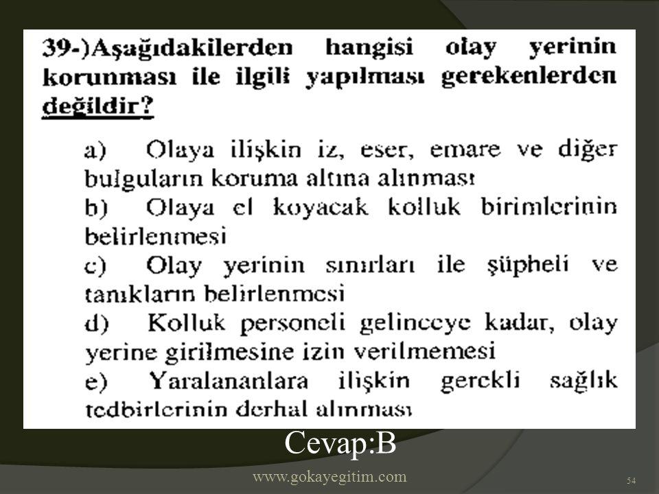 www.gokayegitim.com 54 Cevap:B