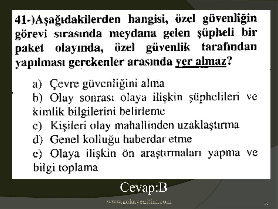 www.gokayegitim.com 56 Cevap:B