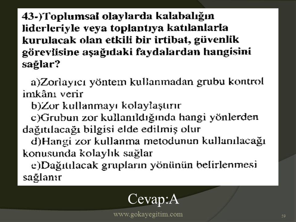 www.gokayegitim.com 59 Cevap:A