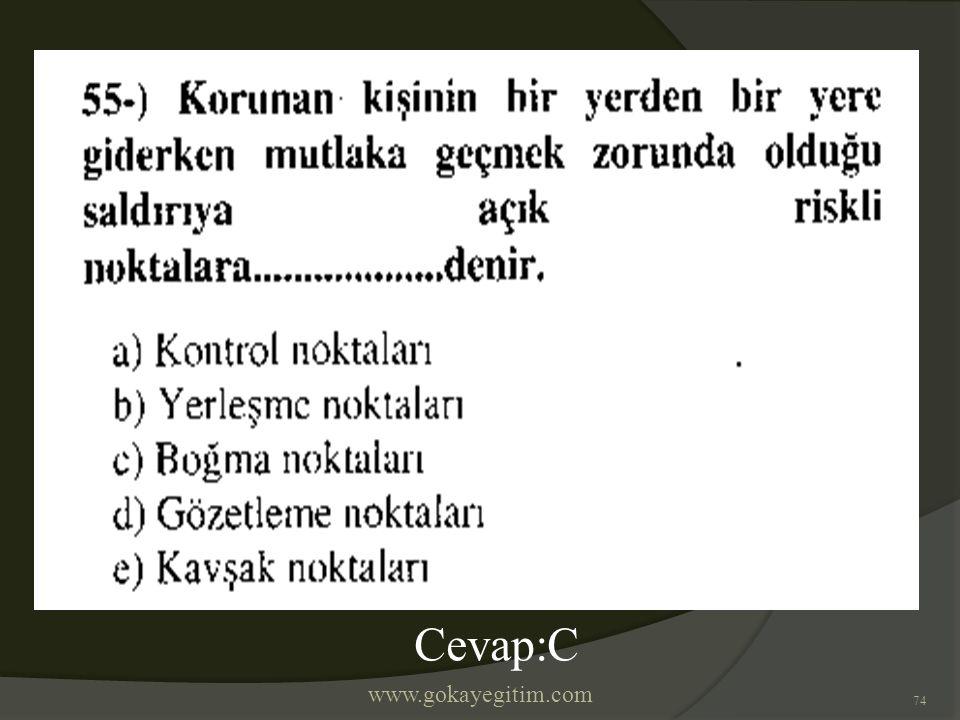 www.gokayegitim.com 74 Cevap:C