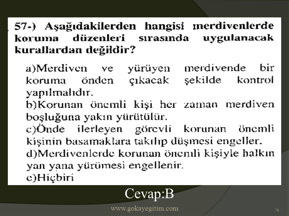 www.gokayegitim.com 76 Cevap:B