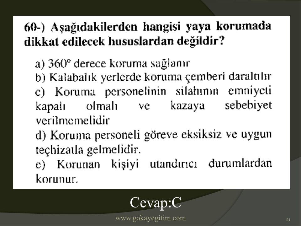www.gokayegitim.com 81 Cevap:C