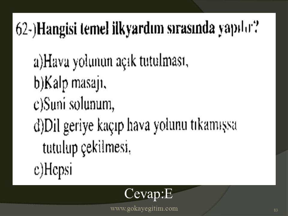 www.gokayegitim.com 83 Cevap:E
