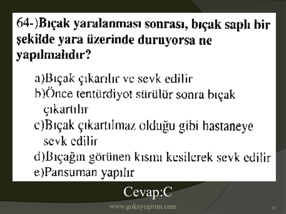 www.gokayegitim.com 85 Cevap:C
