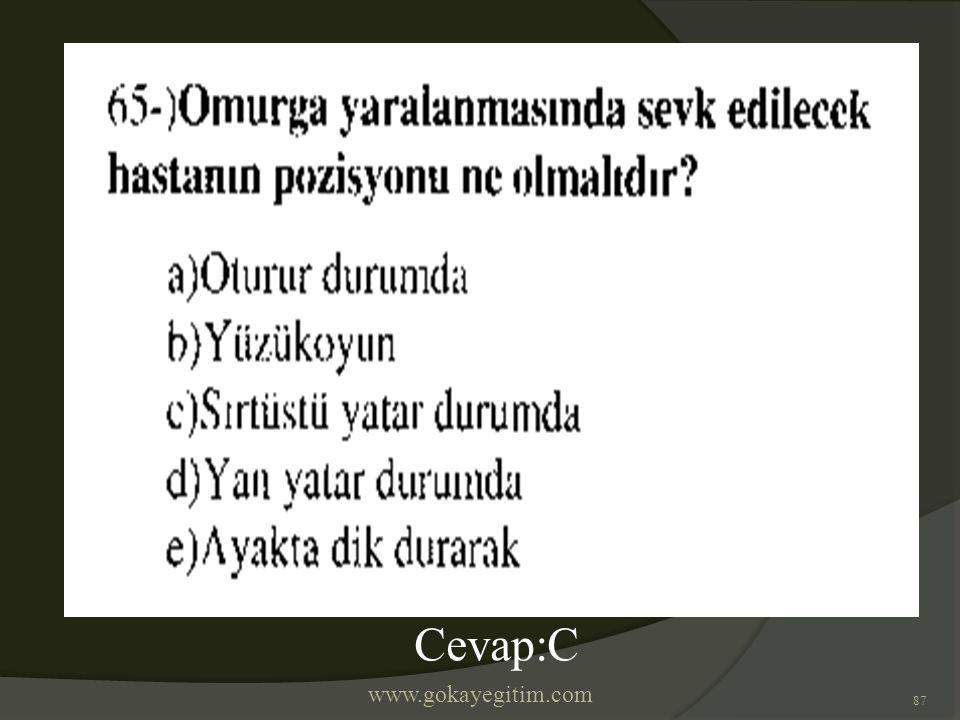 www.gokayegitim.com 87 Cevap:C