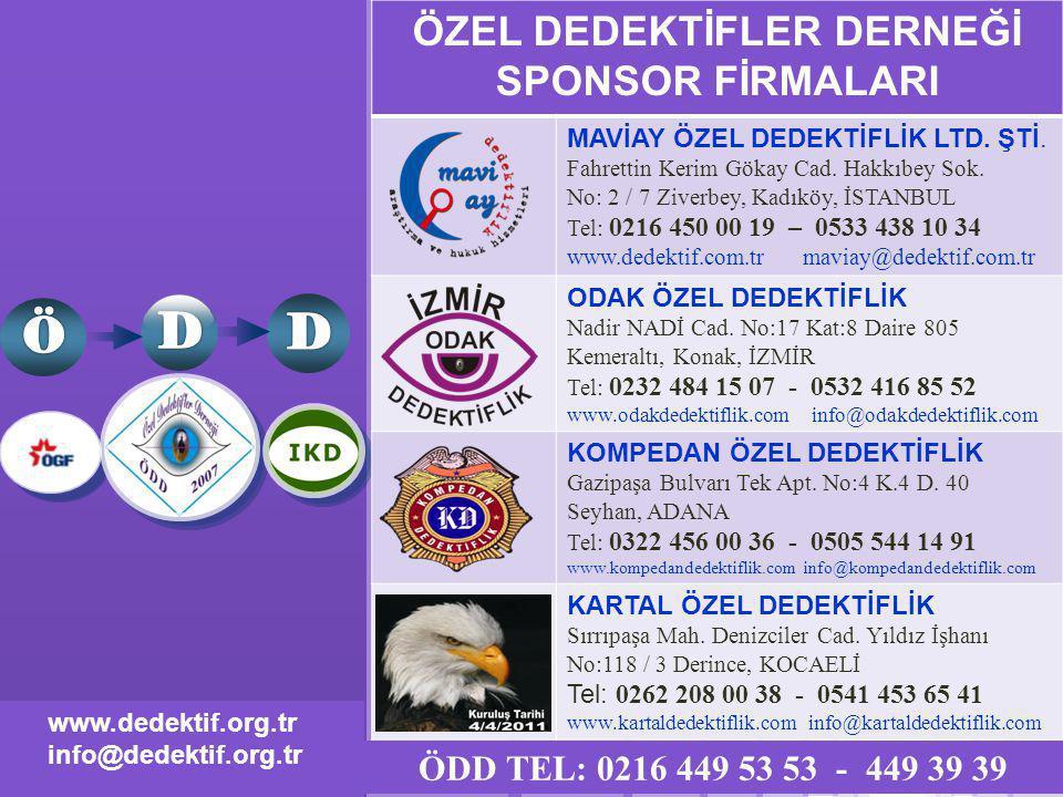 www.themegallery.com LOGO www.dedektif.org.tr info@dedektif.org.tr ÖZEL DEDEKTİFLER DERNEĞİ SPONSOR FİRMALARI MAVİAY ÖZEL DEDEKTİFLİK LTD.