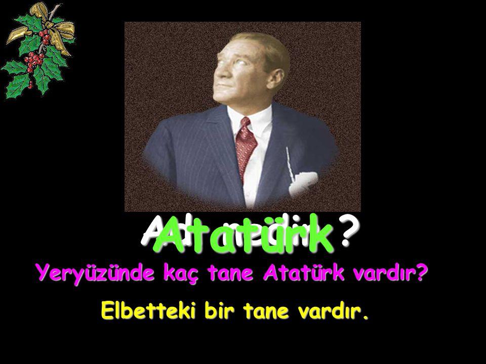 Adı nedir ? Atatürk Yeryüzünde kaç tane Atatürk vardır? Elbetteki bir tane vardır.
