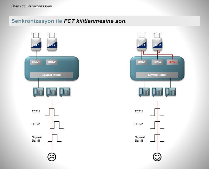  BRI-1BRI-2BRI-3 Sayısal Dahili FCT-1FCT-2 FCT-1 FCT-2 Sayısal Dahili Senkronizasyon ile FCT kilitlenmesine son.
