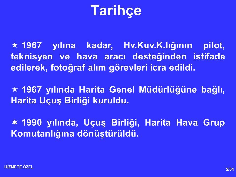 3/34 HİZMETE ÖZEL Tarihçe  Pilot ihtiyacı;  1982 yılına kadar mühendis Sb.lar  1982-1989 yılları arasında Hrt.