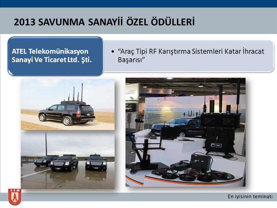 2013 SAVUNMA SANAYİİ ÖZEL ÖDÜLLERİ Milli Sonar Deniz Birimi Transdüserlerinde Kullanılacak Olan Piezoelektrik Seramik Geliştirme Projesi Başarısı METEKSAN Savunma Sanayii A.Ş.