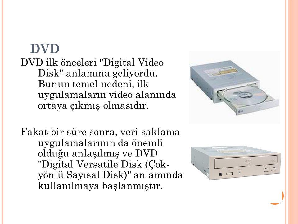 DVD DVD ilk önceleri