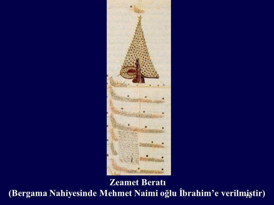 Zeamet Beratı (Bergama Nahiyesinde Mehmet Naimi oğlu İbrahim'e verilmiştir) 11